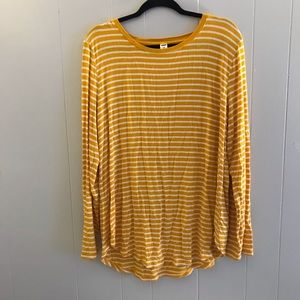 Old navy Luxe Long sleeve striped T-shirt